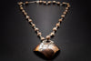 925 Silver, Silver Reticulated Copper Heart, Copper Necklace