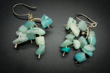 Load image into Gallery viewer, 925 And 935 Silver, Green Teal Amazonite Earrings