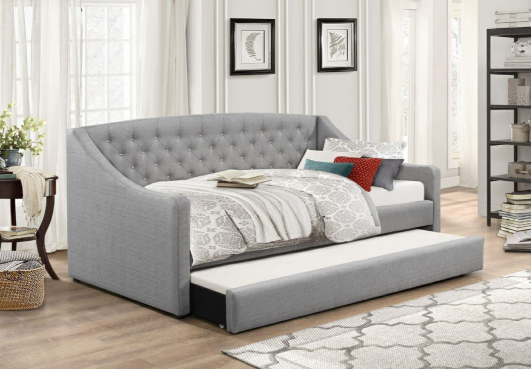 Flair Furnishings Sofa Bed with Trundle Grey