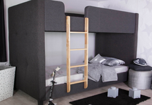 Load image into Gallery viewer, Flair Furnishings Frankie Fabric Bunk Bed Charcoal