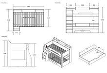 Load image into Gallery viewer, Flair Furnishings Flick Bunk Bed Maple