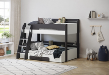 Load image into Gallery viewer, Flair Furnishings Flick Triple Bunk Bed Grey