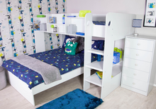 Load image into Gallery viewer, Flair Furnishings Wizard L Shaped Triple Bunk Bed
