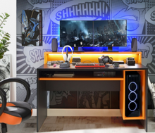Load image into Gallery viewer, Flair Furnishings Powered V5 Gaming Desk
