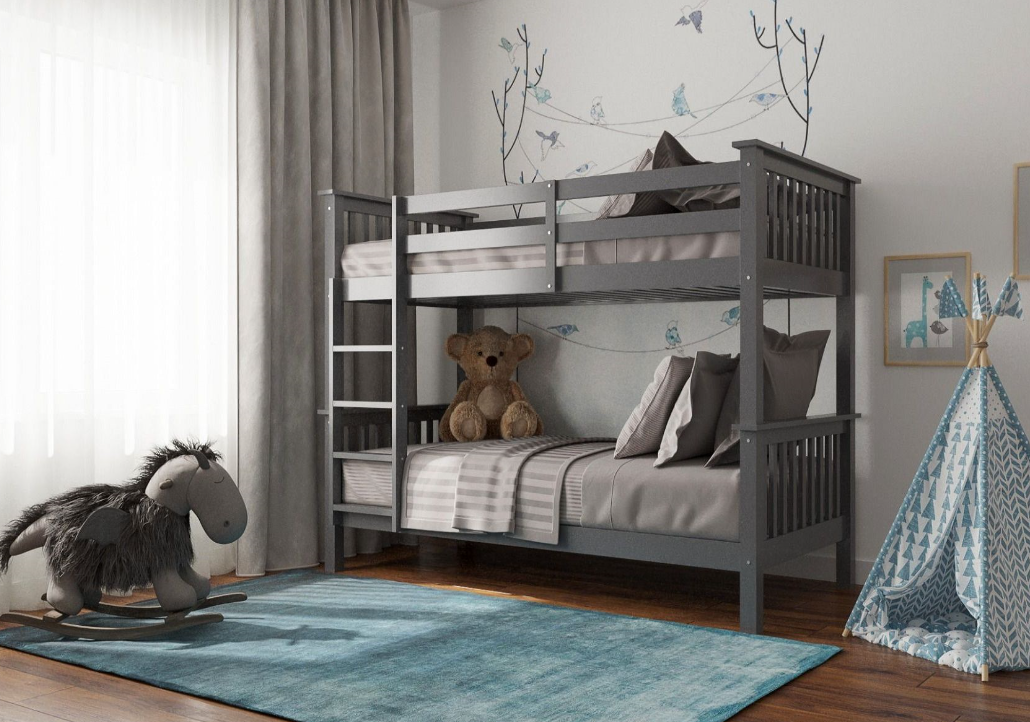 Flair Furnishings Zoom Bunk Bed Grey