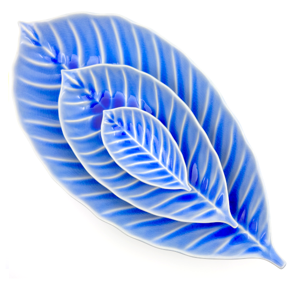Leaf Plate Mini - Blue