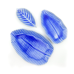 Banana Leaf Plate Medium - Blue