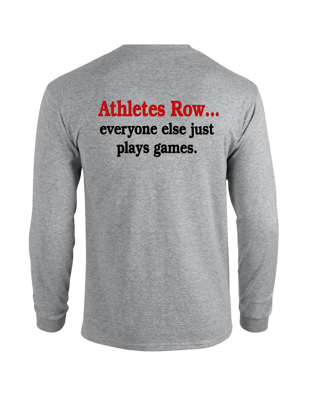 Cotton Long Sleeve Athletes Row Heather Gray