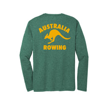Load image into Gallery viewer, Performance Long Sleeve Australia Rowing Heather Green