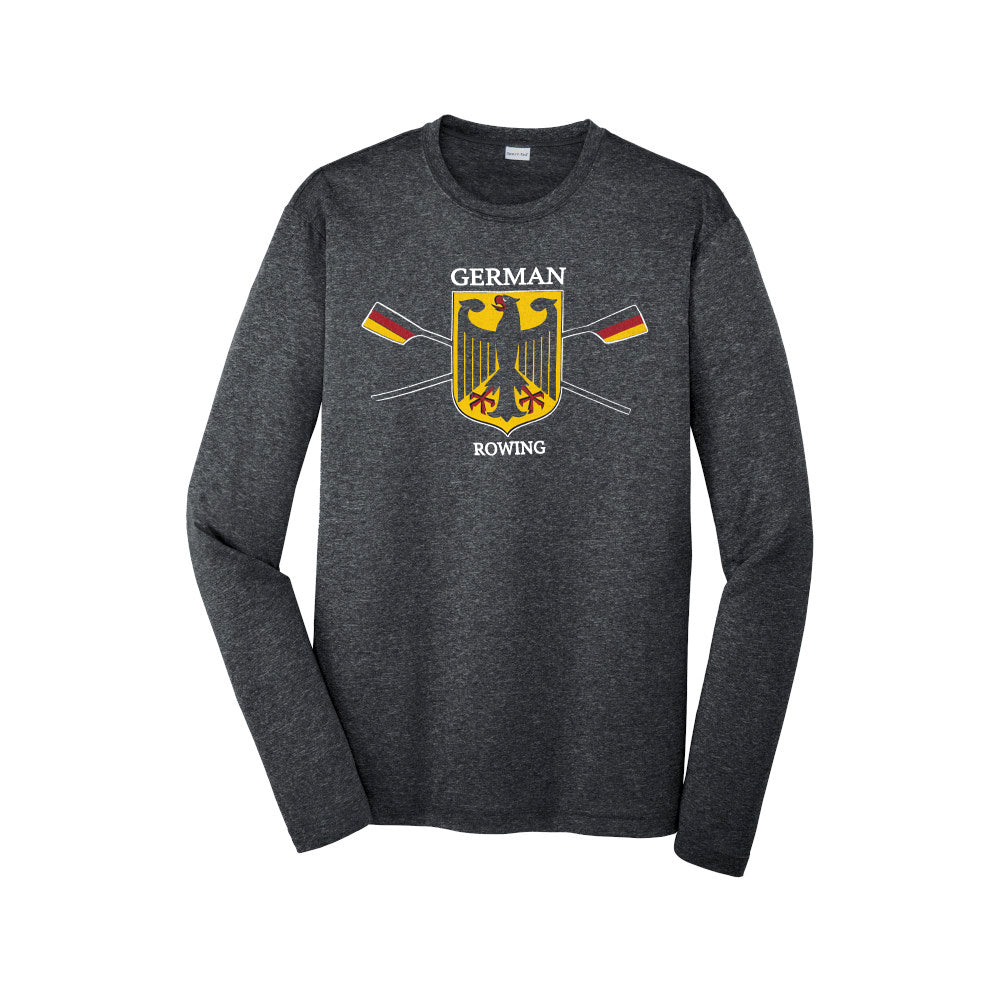 Performance Long Sleeve Germany Rowing Black Heather