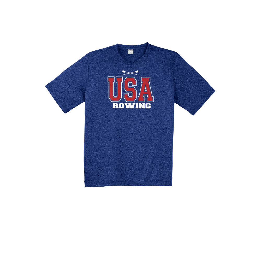 Performance Short Sleeve USA Rowing Cobolt Blue