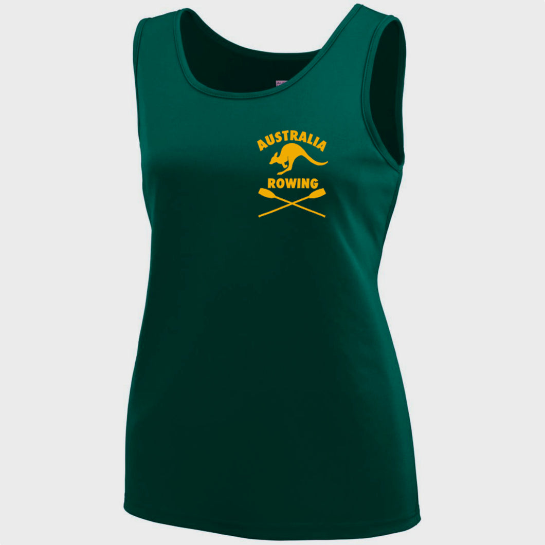 Performance Tank Women's Australia Rowing Dark Green