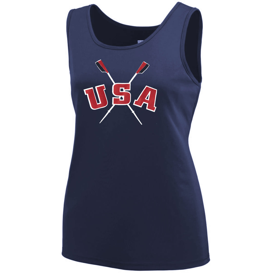 Performance Tank Women's USA Navy