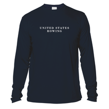 Load image into Gallery viewer, UV United States Rowing and Crossed Oars Long Sleeve - Navy
