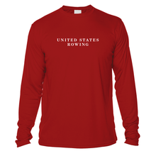 Load image into Gallery viewer, UV United States Rowing and Crossed Oars Long Sleeve - Red
