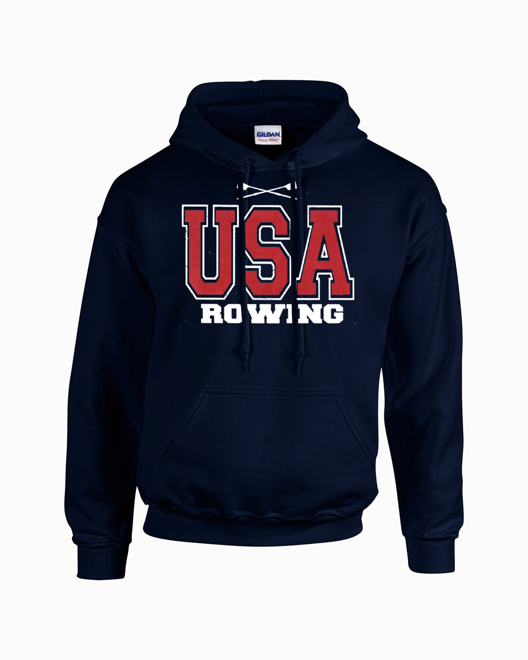 USA Rowing Hoodie Full Front Navy
