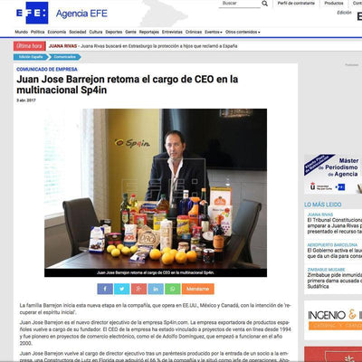 Juan Jose Barrejon retoma el cargo de CEO en la multinacional Sp4in