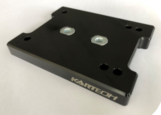 Kartech engine mount top BLACK