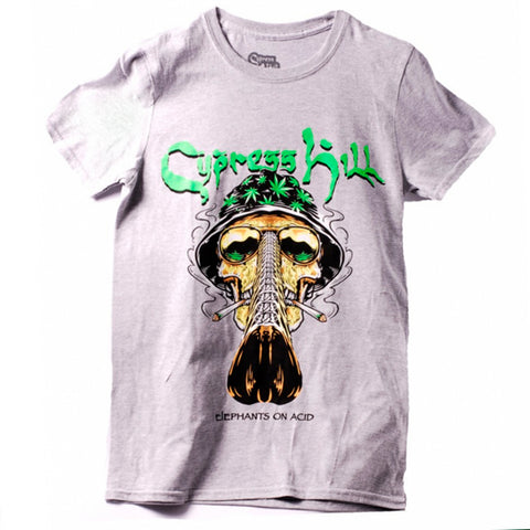 Playera Cypress Hill Gray Skull