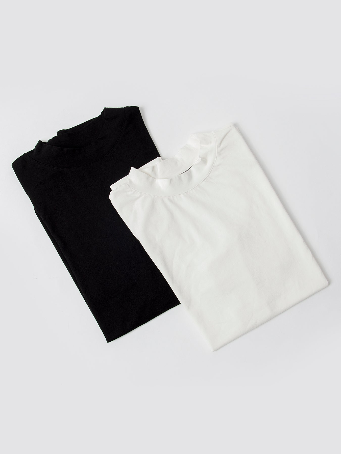 High Neck Knitted Tees - Pack of 2