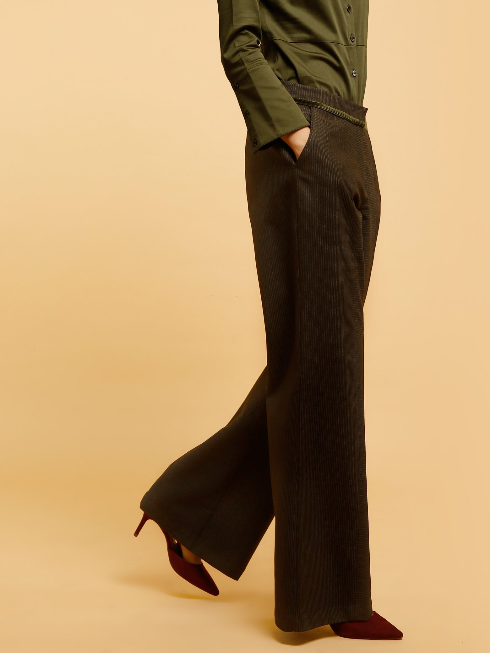 Relaxed Fit Pants - Green