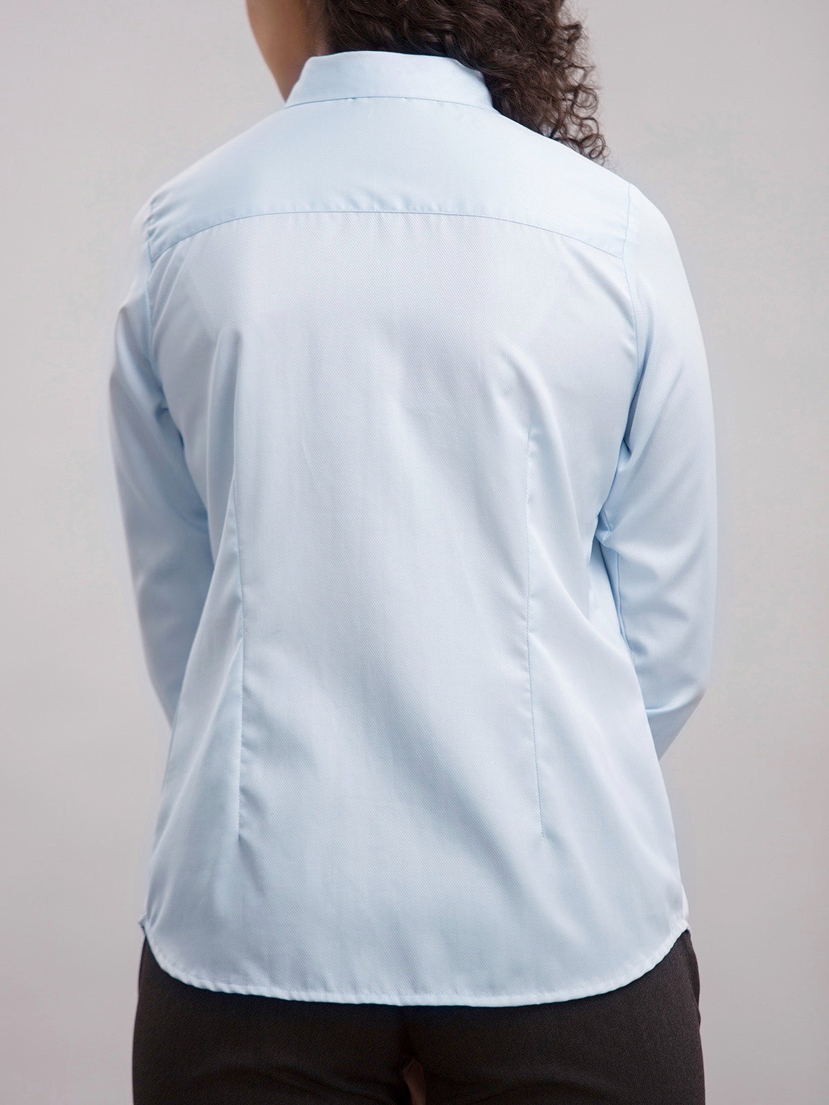 Inverted Pleat Shirt - Light Blue