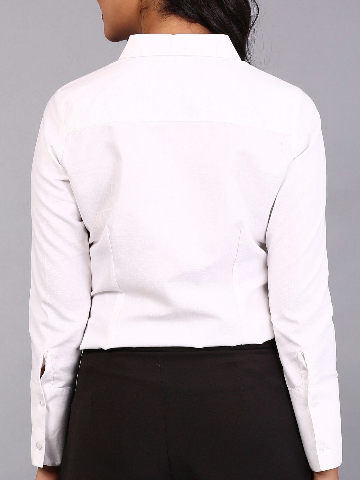 Side Pleated Shirt - White