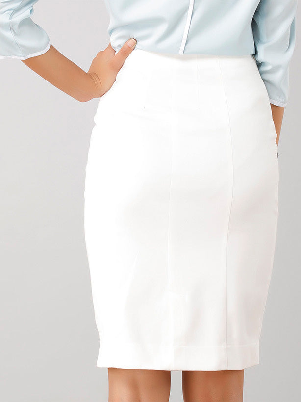 Classic Pencil Skirt - White