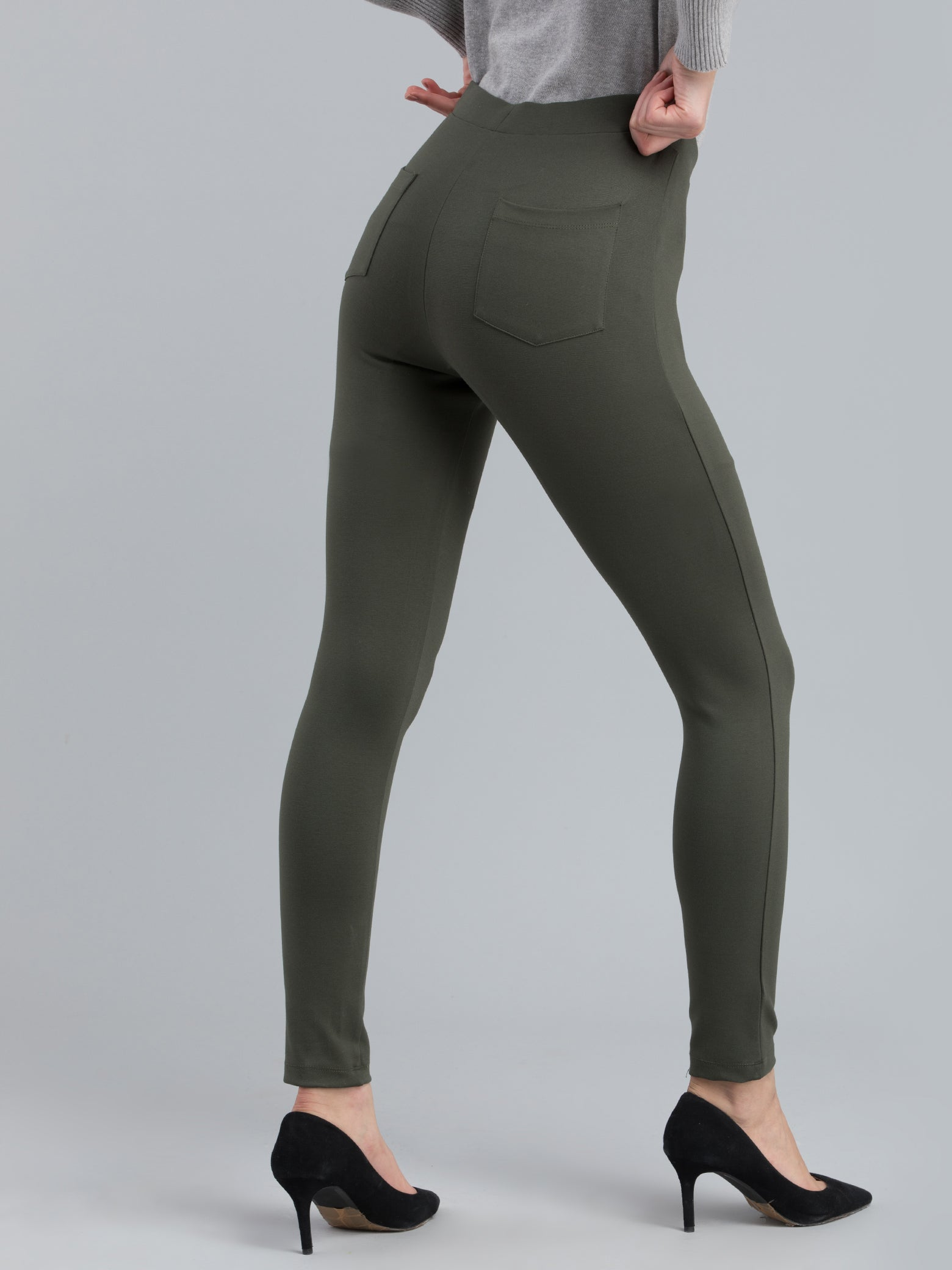 4 Way Stretch Skinny Fit LivIn Jeggings - Olive