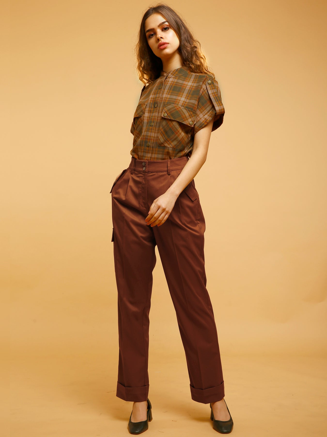 Straight Fit Pants - Rust