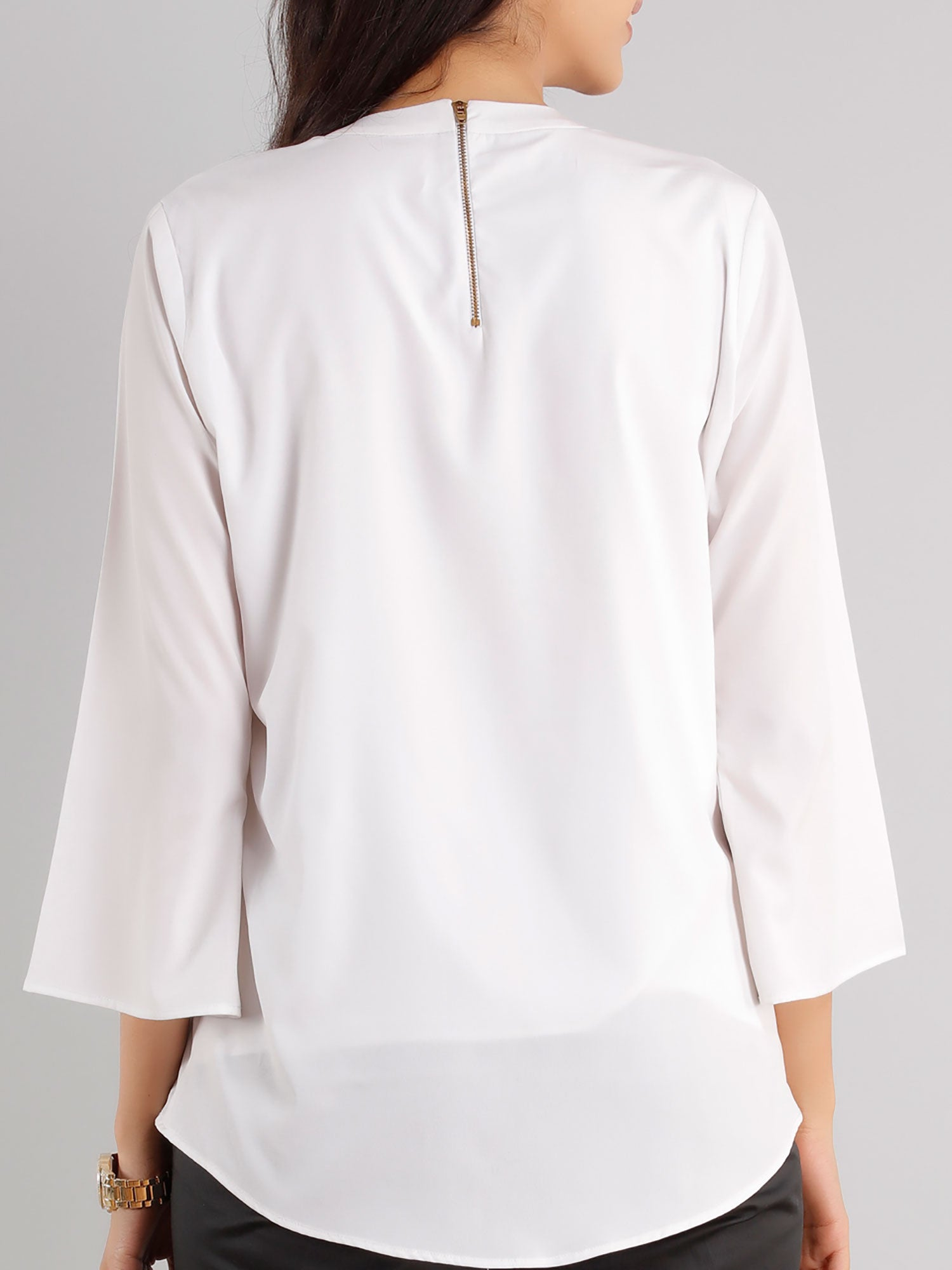 Bell Sleeve Top - White
