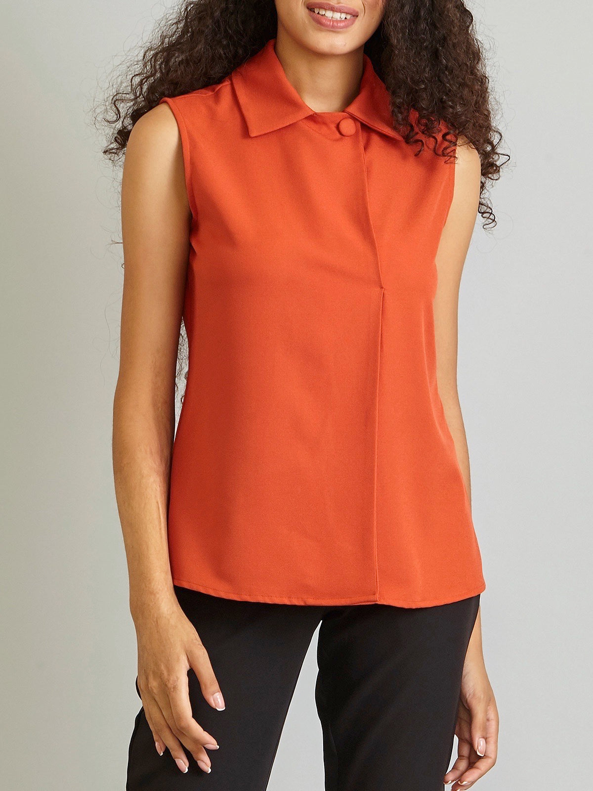 Two Way Neck Top - Rust