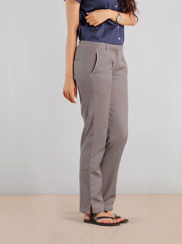 Relaxed Linen Pants - Grey