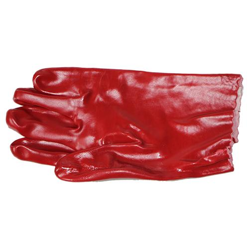13-100321 PVC Red Open Cuff Gloves 27cm
