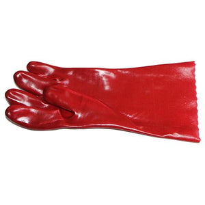 13-100322 PVC Red Open Cuff Gloves 35cm