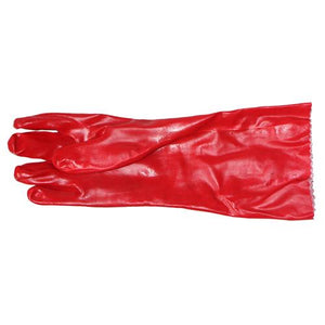 13-100323 PVC Red Open Cuff Gloves 40cm