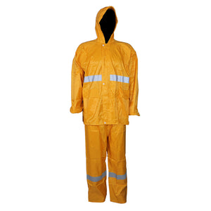 Pinnacle Yellow Rubberised Rain Suit with Reflective