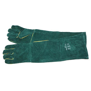 "Pinnacle Green Lined Welding Gloves Shoulder Length 16"" Premium Grade"