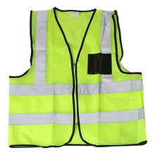 Load image into Gallery viewer, Reflective Safety Vest Lime with ID and Pocket