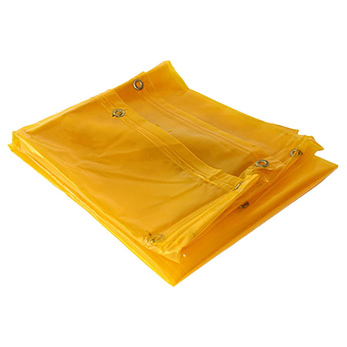 Welding Curtain Yellow with Eyelets - 2M x 2M