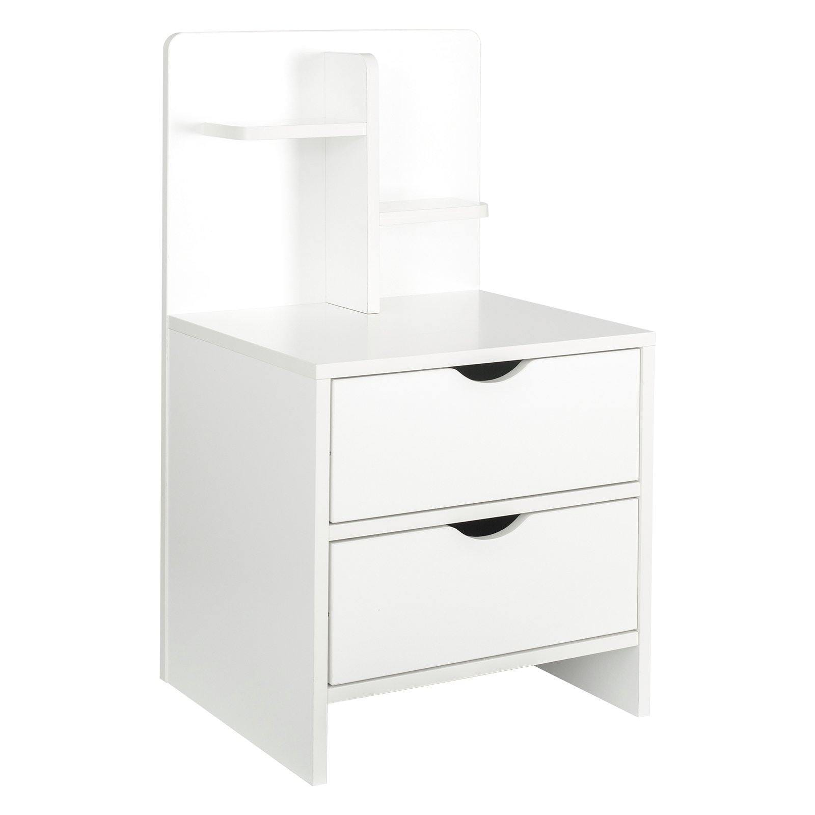 YUSING Solid Wood Color Storage Bedside Table