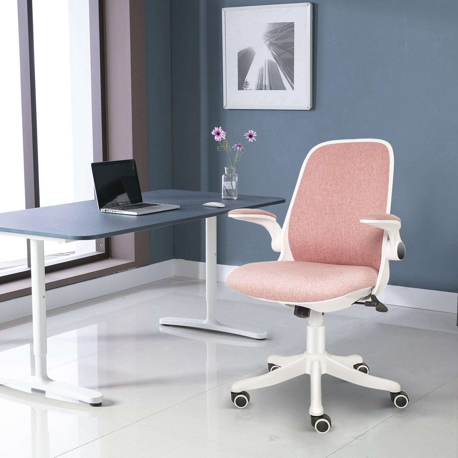 ELECWISH Ultra Comfort Ergonomic Office Chair, Movable Lumber Support, Ergonomic Design