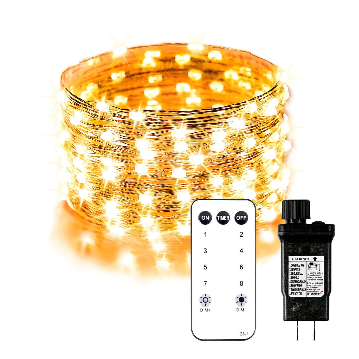 PULUOMIS  33ft 100 LED String Lights