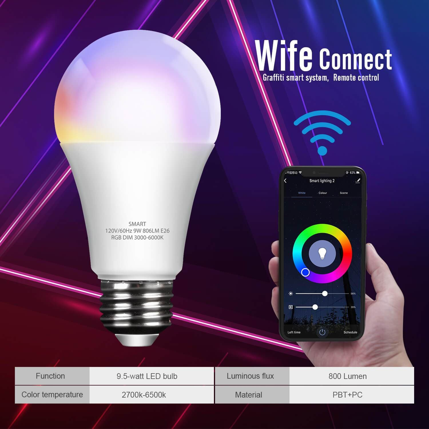 ELECWISH Smart Wifi  LED Lights Bulbs