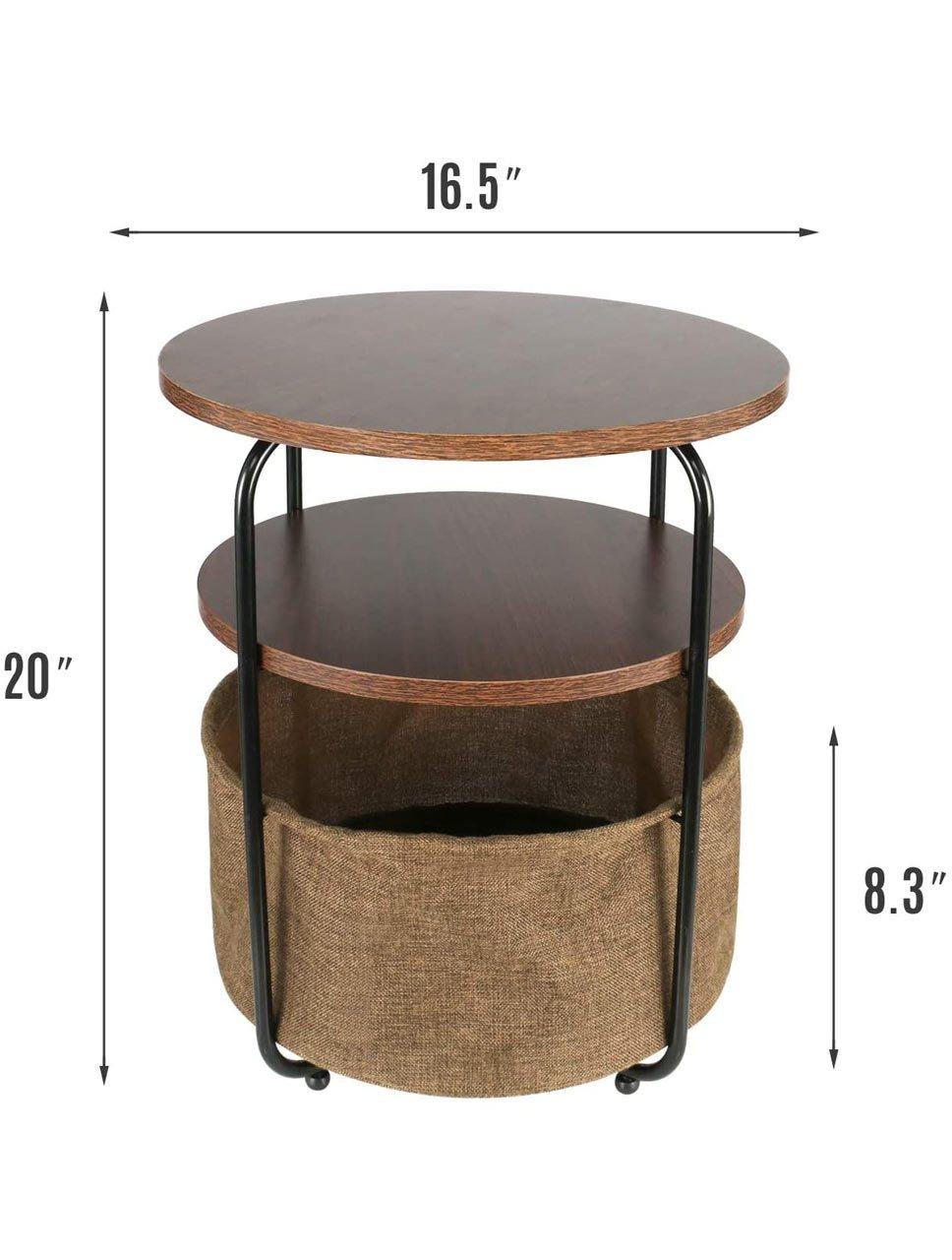 3 Tier Round Side Table