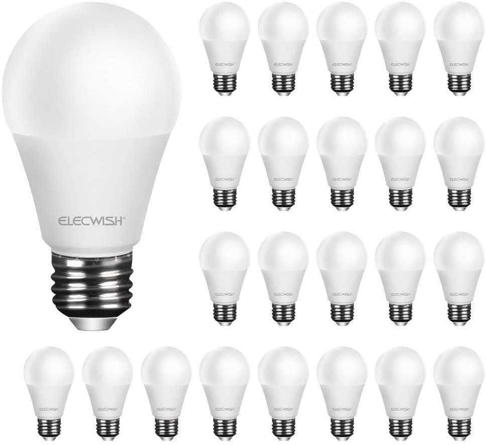 9 Watt A19 LED Light Bulbs (Day Light) - Elecwish