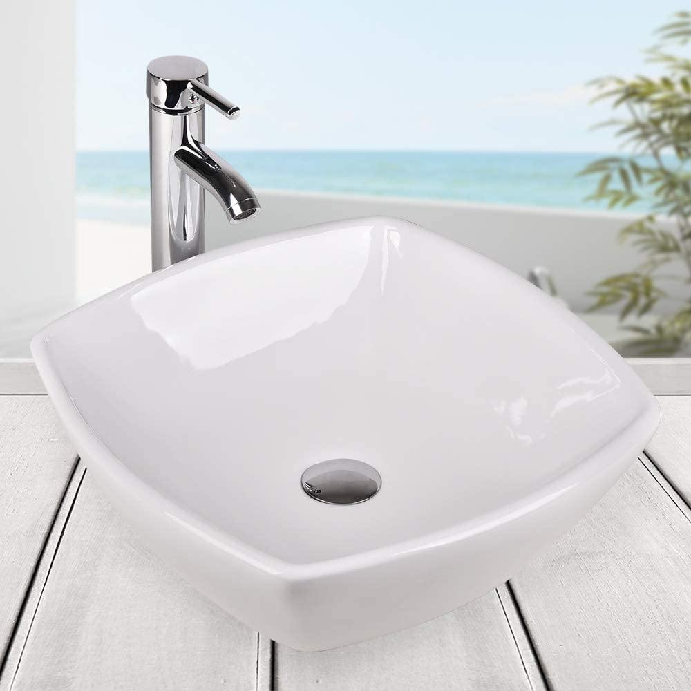 Bathroom Glass Ceramic Vessel Sink