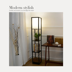Shelf Floor Lamp Black