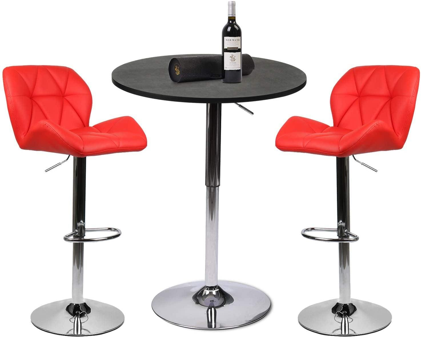 Bar Table And Barstool - Set Of 3