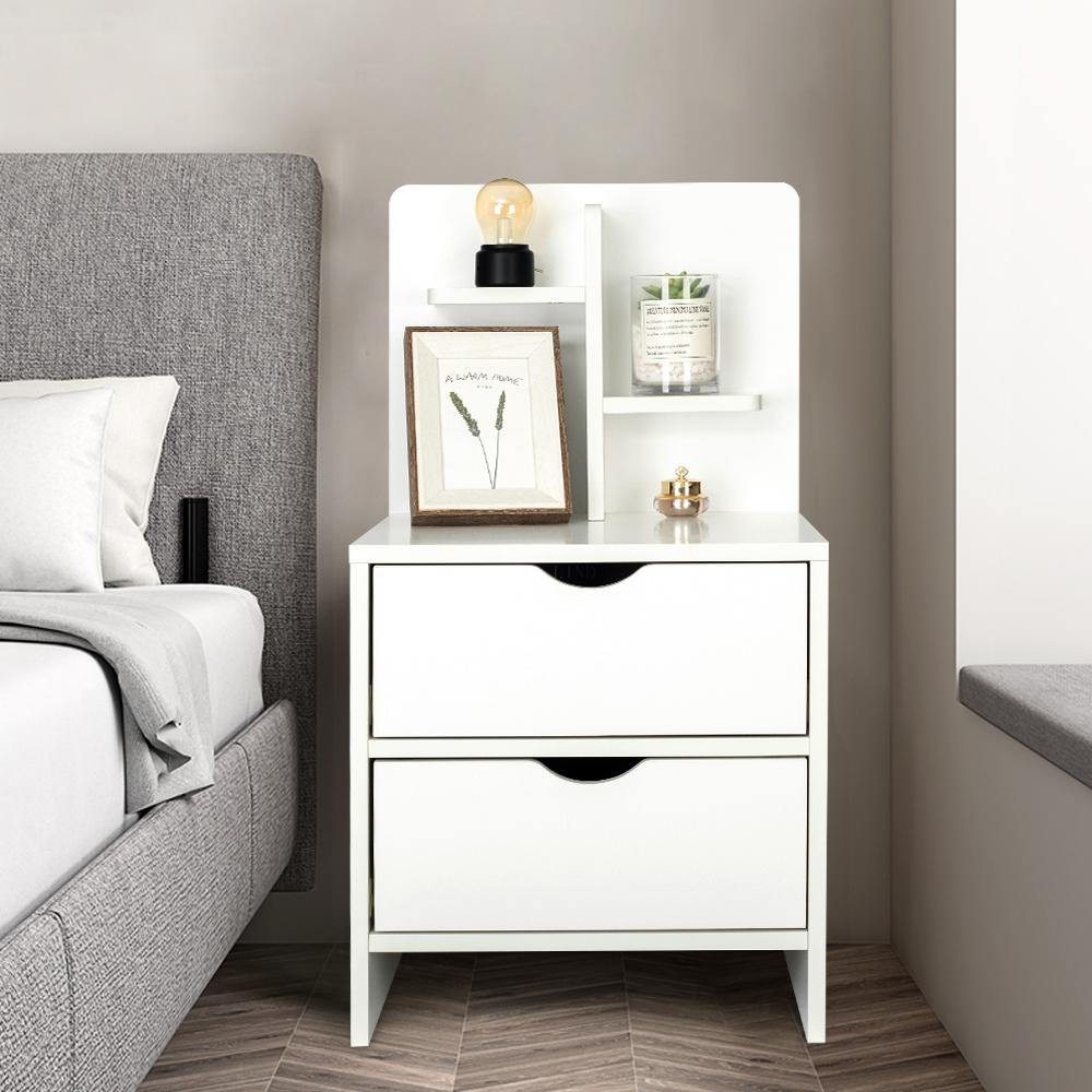 Solid Wood Color Storage Bedside Table - Elecwish